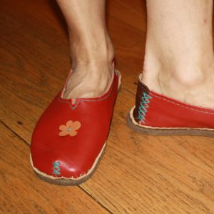 Diane's 1st pair of home made shoes